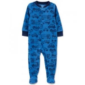Baby Boys Cars-Print Fleece Coverall