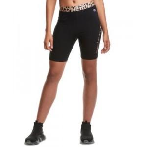 Womens Animal-Print Bike Shorts