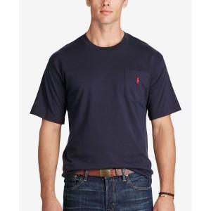 Mens Big & Tall Crew-Neck Pocket T-Shirt