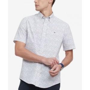Mens Classic-Fit TH Flex Stretch Kove Poplin Floral Shirt