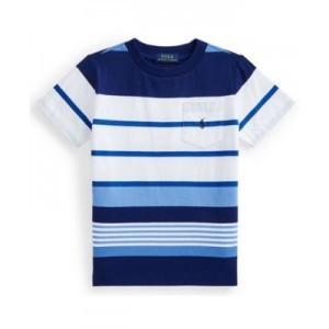 Toddler Boys Striped Jersey Pocket T-shirt