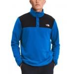Mens TKA Glacier Standard-Fit Colorblocked 1/4-Snap Fleece Sweatshirt
