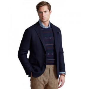 Mens Polo Soft Herringbone Suit Jacket