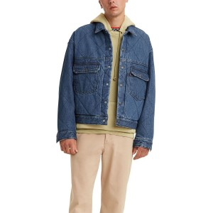 Mens Stay Loose Quilted Type 2 Trucker Jacket
