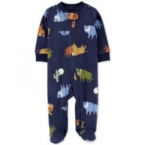 Baby Boys Buffalo Zip-Up Fleece Coverall
