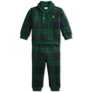 Baby Boys Plaid Fleece Pullover & Jogger Pants Set