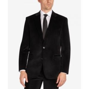 Mens Velvet Modern-Fit Suit Separate Jacket