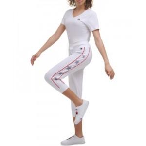 Womens Star-Print Cropped Jogger Pants