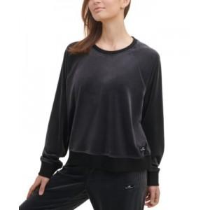 Sport Womens Velour Crewneck Sweatshirt