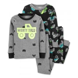 Baby Boys 4-Pc. Monster Truck Cotton Pajamas
