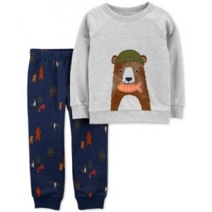 Baby Boys 2-Piece Bear Sweater & Pant Set