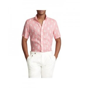 Mens Classic-Fit Linen Shirt