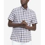 Mens Custom-Fit TH Flex Stretch Poplin River Oaks Check Shirt