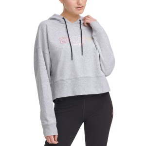 Ombre-Logo Cropped Hoodie