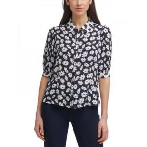 Floral-Print Camp Shirt