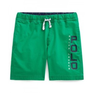 Little Boys Logo Stretch Poplin Shorts