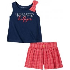 Toddler Girls Signature Tank Top and Plaid Skorts Set, 2-Piece