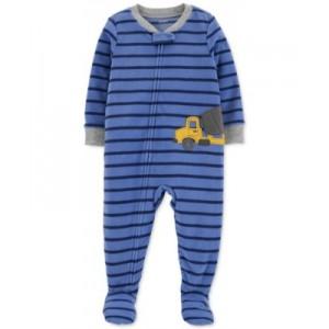 Baby Boys Construction Fleece Pajamas