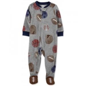 Baby Boys Sports-Print Fleece Pajamas
