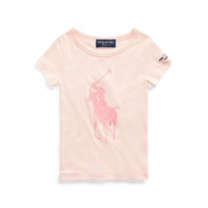 Toddler Girls Pink Pony Graphic Tee