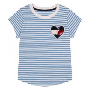 Little Girls Sequin Heart Tee