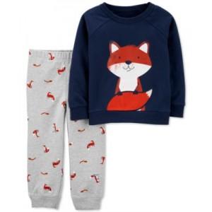 Baby Boys 2-Pc. Fox Sweatshirt & Pants Set