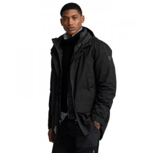 Mens Twill Hooded Coat & Quilted Liner