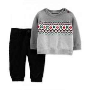 Baby Boys 2-Pc. Sweater & Corduroy Pants Set
