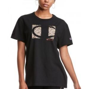 Womens Cotton Graphic Print Boyfriend T-Shirt