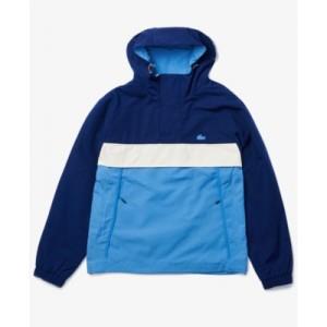 Mens Colorblocked Water-Resistant Hooded Jacket
