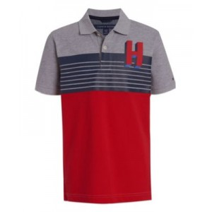 Little Boys 3D H Logo Polo T-shirt