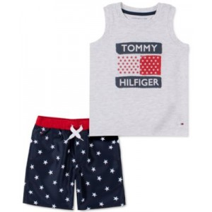 Baby Boys 2-Pc. Tank Top & All-Star Drawstring Shorts Set