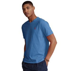 Mens Big & Tall Jersey V-Neck T-Shirt
