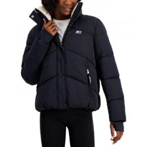 Sherpa-Collar Puffer Jacket