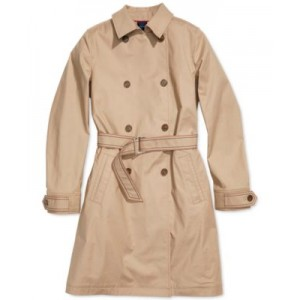 Womens Trench Coat with Magnetic Closure