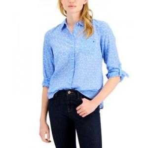 Bonita Burnout Roll-Tab Shirt