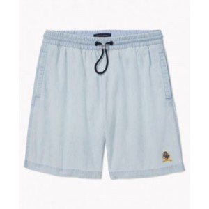 Mens Iconic Re-Issue Chambray Shorts with Drawcord Stopper