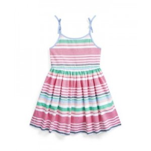 Little Girls Striped Oxford Dress