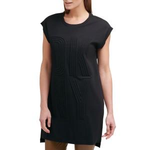 Textured Logo Shift Dress