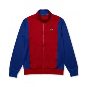 Mens SPORT Resistant Bicolor Pique Zip Sweatshirt