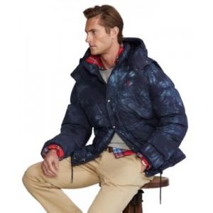 Mens Convertible Tie-Dye Down Jacket