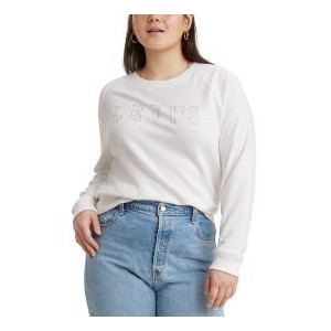 Trendy Plus Size Glitter-Logo Sweatshirt, Created for Macys
