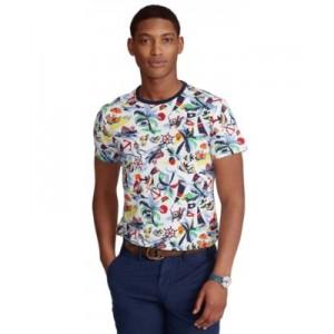 Mens Classic-Fit Nautical-Print T-Shirt