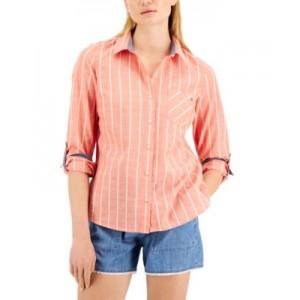 Seville Stripe Roll-Tab Shirt