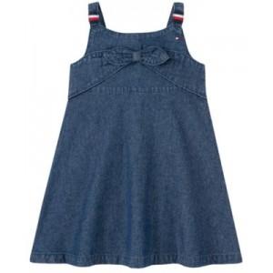 Toddler Girls Tie-Front Signature Denim Dress