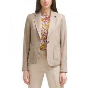 Textured One-Button Jacket