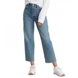 Womens Ribcage Straight Ankle Jeans