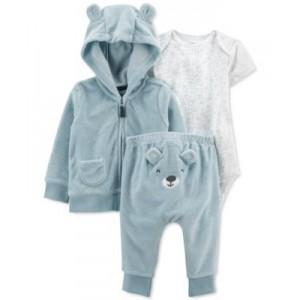 Baby Boys Bear Three-Piece Little Jacket Set