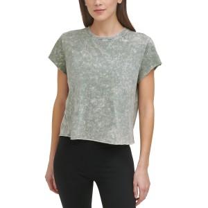Sport Womens Cotton Acid-Wash T-Shirt
