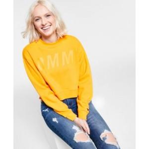 Cotton Side-Zippered Cropped Sweatshirt